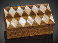 Lapidary Art:Boxes, Tiger's Eye & Mother of Pearl Box. Artist: Konstantin Libman. South Africa & Philippines. ...