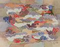 Works on Paper, Bror Utter (American, 1913-1993). Aerial View II, 1982. Watercolor on paper. 7-1/4 x 9-1/4 inches (18.4 x 23.5 cm) (sigh...
