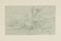Books:Prints & Leaves, [Original Art]. Hablot Knight Browne, English illustrator (1815 -1882). SIGNED. Original Double-Sided Pencil Sketch by Browne...