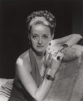 Photographs:Gelatin Silver, George Hurrell (American, 1904-1992). Bette Davis, 1936. Gelatin silver, printed later. 18-3/4 x 15-1/2 inches (47.6 x 3...