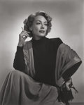Photographs, Yousuf Karsh (Canadian, 1908-2002). Joan Crawford, 1948. Gelatin silver, printed later. 19-3/4 x 15-3/4 inches (50.2 x 4...