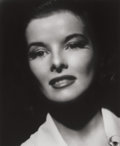 Photographs:Gelatin Silver, George Hurrell (American, 1904-1992). Katharine Hepburn,1941. Gelatin silver, printed later. 18-3/4 x 15-1/2 inches (47...