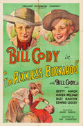 """Movie Posters:Western, The Reckless Buckaroo (Crescent Distributing, 1935). One Sheet (27"""" X 41"""").. ..."""