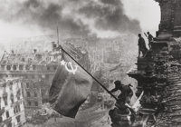 Yevgeni Khaldei (Russian, 1917-1997) Raising the Red Flag over the Reichstag, 1945 Gelatin silver, p