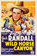 "Movie Posters:Western, Wild Horse Canyon (Monogram, 1938). One Sheet (27"" X 41"").. ..."