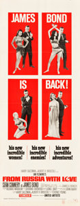 "Movie Posters:James Bond, From Russia with Love (United Artists, 1964). Insert (14"" X 36"").. ..."