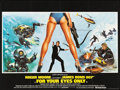 "Movie Posters:James Bond, For Your Eyes Only (United Artists, 1981). British Quad (30"" X 40"").. ..."