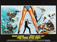 "For Your Eyes Only (United Artists, 1981). British Quad (30"" X 40"")"