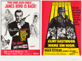 """Movie Posters:James Bond, From Russia with Love/Hang 'Em High Combo (United Artists, R-1968). British Quad (30"""" X 40"""").. ..."""