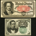 Fractional Currency:Fifth Issue, Fifth Issue Fractionals Two Different Denominations.. ... (Total: 2notes)