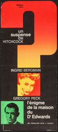 """Movie Posters:Hitchcock, Spellbound (Dicifrance, R-1960s). French Poster (11.5"""" X 26.5"""").Hitchcock.. ..."""