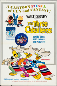 """The Three Caballeros & Other Lot (Buena Vista, R-1977). One Sheets (2) (27"""" X 41""""). Animation. ... (To..."""
