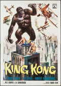 "Movie Posters:Horror, King Kong (Delta, R-1966). Italian 4 - Foglio (55"" X 77.5"").Horror.. ..."