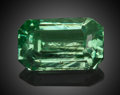 Gems:Faceted, Fine Gemstone: Hiddenite - 1.55 Ct.. Hiddenite, Alexander Co., North Carolina, USA. ...