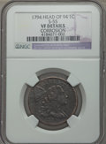 Large Cents, 1794 1C Head of 1794, S-55, B-47, R.2, -- Corrosion -- NGC Details. VF. ...