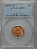 Lincoln Cents: , 1909 VDB 1C MS65 Red PCGS. PCGS Population (5481/2421). NGC Census: (2474/1319). Mintage: 27,995,000. Numismedia Wsl. Price...