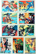 "Miscellaneous:Trading Cards, [Trading Cards, Batman]. Group of Nine Topps ""Blue Bat"" BatmanCards. National Periodical Publications, 1966. ..."