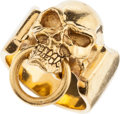 Movie/TV Memorabilia:Memorabilia, An Impressive Gold Skull Ring....