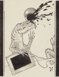 Mainstream Illustration, Willy Pogany (Hungarian/American, 1882-1955). Lizard Gets Hit,Alice's Adventures in Wonderland, Chapter 12 page 187 story...