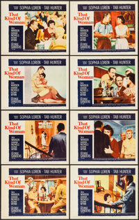 """That Kind of Woman & Other Lot (Paramount, 1959). Lobby Card Sets of 8 (2 Sets) (11"""" X 14""""). Romance..."""