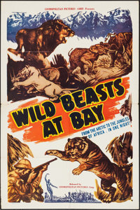 "Wild Beasts at Bay (Cosmopolitan, 1947). One Sheet (27"" X 41""). Documentary"