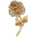 Estate Jewelry:Brooches - Pins, Diamond, Gold Pin. ...