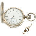 Timepieces:Pocket (pre 1900) , Elgin 18 Size Grade 13 Hunter's Case Pocket Watch. ...
