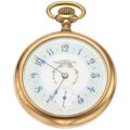 Timepieces:Pocket (post 1900), Waltham 23 Jewel Fancy Dial Pocket Watch. ...
