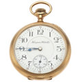 Timepieces:Pocket (post 1900), Hampden 21 Jewel Grade 105 Open Face Pocket Watch. ...