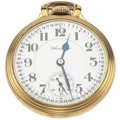 Timepieces:Pocket (post 1900), Hamilton 21 Jewel 992 Elinvar Open Face Pocket Watch. ...
