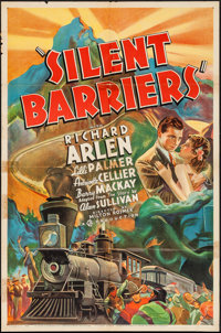 "Silent Barriers (Gaumont, 1937). One Sheet (27"" X 41"") Style A. Action"