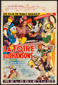 """Movie Posters:Animation, Melody Time (RKO, 1951). Belgian (14"""" X 21""""). Animation.. ..."""