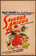 "Movie Posters:Animation, Saludos Amigos (RKO, 1943). Window Card (14"" X 22""). Animation....."