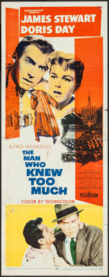 "The Man Who Knew Too Much (Paramount, 1956). Insert (14"" X 36""). Hitchcock"