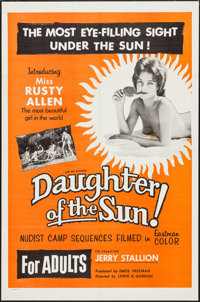 "Daughter of the Sun (Lucky Pierre Enterprises, 1962). One Sheet (27"" X 41""). Sexploitation"