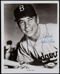 Baseball Collectibles:Photos, Pee Wee Reese Signed Photograph....
