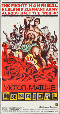 "Hannibal (Warner Brothers, 1960). Three Sheet (41"" X 77.5""). Action"