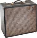 Musical Instruments:Amplifiers, PA, & Effects, 1964 Univox U45B Black Guitar Amplifier....