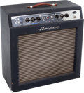 Musical Instruments:Amplifiers, PA, & Effects, 1966 Ampeg Reverberocket 2 Navy Blue Guitar Amplifier, Serial #012424....