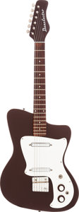 Musical Instruments:Electric Guitars, Circa 1967 Danelectro Hawk Textured Brown Solid Body ElectricGuitar....