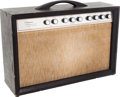 Musical Instruments:Amplifiers, PA, & Effects, Circa 1961 Silvertone Model 1474 Twin 12 Black Guitar Amplifier, Serial # 185 10411....