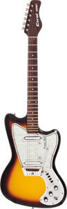 Musical Instruments:Electric Guitars, Circa 1967 Coral Hornet Sunburst Solid Body Electric Guitar....