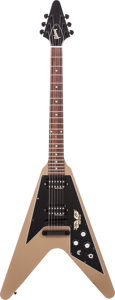 Musical Instruments:Electric Guitars, 2013 Gibson Government Series II Flying V Government Tan Solid BodyElectric Guitar, Serial # 130530375....