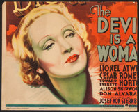 """The Devil is a Woman (Paramount, 1935). Trimmed Jumbo Window Card (16"""" X 20""""). Romance"""