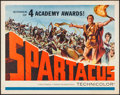 "Movie Posters:Action, Spartacus (Universal International, 1961). Half Sheet (22"" X 28"") Academy Award Style. Action.. ..."