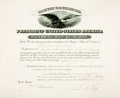 Autographs:U.S. Presidents, President Calvin Coolidge Appointment Signed....