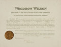 Autographs:U.S. Presidents, President Woodrow Wilson Appointment Signed....