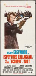 "Movie Posters:Crime, Dirty Harry (Dear International, 1972). Italian Locandina (13"" X27.5""). Crime.. ..."