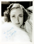 Autographs:Celebrities, Actress Joan Crawford Signed Photograph....