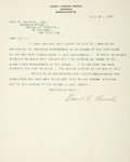 Autographs:Artists, American Sculptor Daniel Chester French Typed Letter Signed....